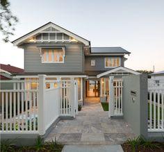 Main house colour: Resene Stack Fence/trim/windows: Dulux Lexicon Quarter Roof/gutters: Dulux Woodland Grey