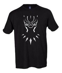 42d51d2ca505b Black Panther Mask Graphic Marvel Comic T-Shirt