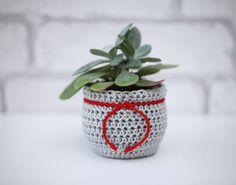 Flower Pot Cozy Christmas Planter Succulent by BerriesForBella