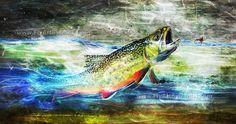 "Profile Series - ""Brook Trout and Wulff""  Fly Art by Daniel  http://www.flyartbydaniel.com"