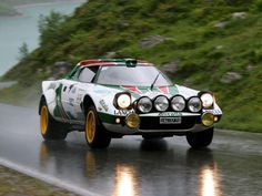 Lancia Stratos! Running a mid mount Dino Ferrari engine. Changed the rally scene in the 70s with less than 500 production cars produced. One of the rare few cars built by Italians that actually works.