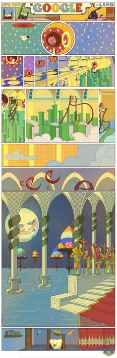 "Hoy ""Little Nemo"" en Google, toda una obra de arte."