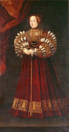 1542 (after) Elisabeth of Austria (1526-1545), Queen of Poland by Monogrammist PF (Germanisches Nationalmuseum - Nuremberg Germany)