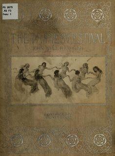 'THE FAIRIES' FESTIVAL' by John Witt Randall, old book cover <> (fairies, fae, book, stories, literature)