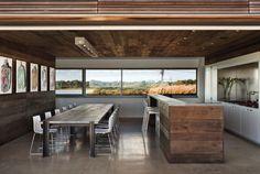 Dining Kitchen Area -Sagaponack, NY by Bates Masi Architects