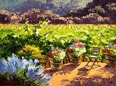 Sunlit Patio by Erin Dertner Oil ~ 18 x 24