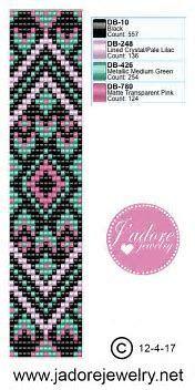 off loom beading techniques Loom Bracelet Patterns, Bead Loom Bracelets, Bead Loom Patterns, Beaded Jewelry Patterns, Weaving Patterns, Bead Jewelry, Knitting Patterns, Mosaic Patterns, Bead Earrings