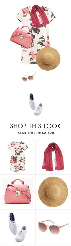 """""""Dress and Sneakers"""" by daiscat ❤ liked on Polyvore featuring Monki, Chloé, Flora Bella, Keds and Topshop"""