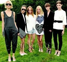 Gwyneth Paltrow and Stella McCartney show off what their combined efforts have created!
