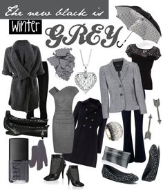 """The new black is winter GREY!"" on Polyvore"