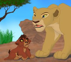 """Nala: """"You know you shouldn't be here, Kovu."""" Kovu: """"But why? I... I just wanted to see Kiara."""" Nala: """"Stay away from my daughter. Your mother must be looking for you. Go home, and don't come back!"""""""