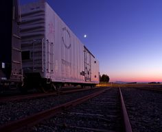 Boxcar Twilight    Boxcar at Mare Island Naval Shipyard.