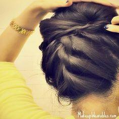 Upside Down French Braid Bun by Tina L. **Video Tutorial**
