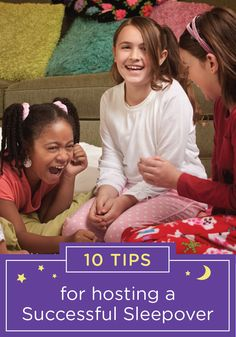 Make your child's next sleepover go off seamlessly with this collection of 10 tips for a successful sleepover. Start by making sure you set ground rules for the slumber party. Whether it's a limit on the number of guests or an established lights-out time, your night will go a little smoother if the rules are clear from the start.