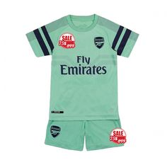 c85701b00 Cheap Kids Arsenal Third Soccer Jersey Kit Children Shirt   Shorts 2018-19  Model  Goal63964 Youth Football Kits on Goaljerseyshop.com