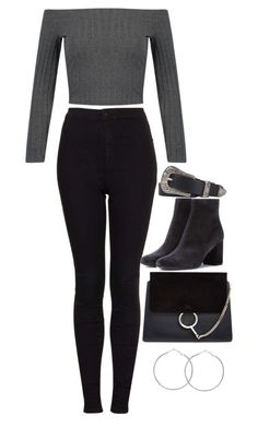 """""""Untitled #2587"""" by hiitsbre ❤ liked on Polyvore featuring Topshop, Yves Saint Laurent and Chloé"""