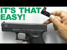 It's THAT Easy!!!  Replacing Rear Sight with Red Dot Sight Mount - Vorte...