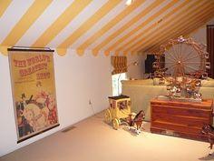 ceiling/circus playroom