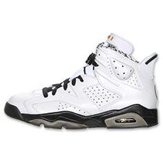 Air Jordan Retro 6 Motorsports Men's Basketball Shoe| Finish Line | White/Black