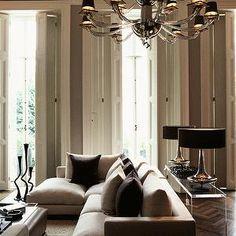 Gray and Purple Living Room, Contemporary, living room, Purple Design