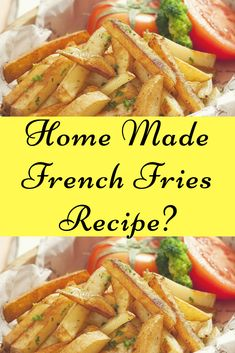 Home Made French Fries Recipe? Air Fryer French Fries, Making French Fries, French Fries Recipe, Famous French, Eat Healthy, Frozen, Commercial, Appetizers, Potatoes