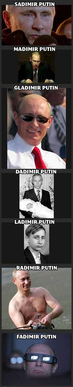 I LOVE PUTIN!!! In a creepy obsessed with an almost dictator kind of way... Politics Geek for life!