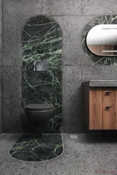 Timber Slats, Timber Roof, White Wall Tiles, Grey Tiles, Pink Toilet, Indian Bathroom, Stone Tiles, Concrete Stone, Circular Mirror