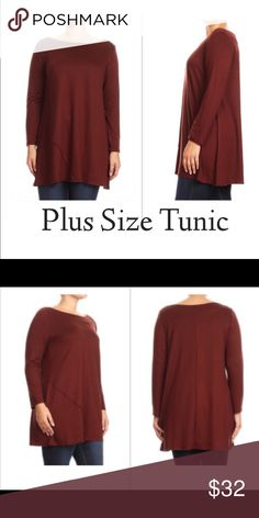 1a9d78653af 🎉HP🎊🎉🅿 Burgundy Long Body Tunic Top Boutique