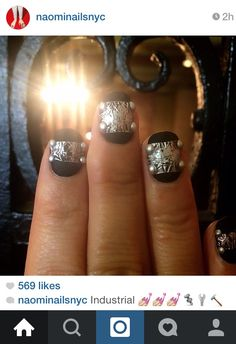 welded on by Naomi Nails NYC How To Do Nails, Fun Nails, Cool Nail Art, Class Ring, Swatch, Nail Polish, Glitter, Nyc, Amazing
