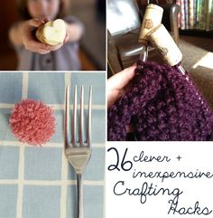 26 Clever And Inexpensive Crafting Hacks