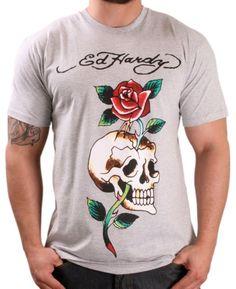 764ad0c7 Save $15.01 on Ed Hardy By Christian Audigier Men's Crew Neck Skull Rose  T-Shirt