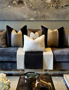 Grey and faded contemporary sofas