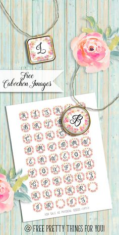FREE printable alphabet letters | Free Pretty Things For You