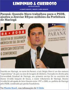 """Com a informação da manchete desta notícia, encontrei no google, usando """" O Juiz Sérgio Moro, trabalhou para o PSDB, ajudou a desviar  R$  500 milhões da Prefeitura de Maringá"""" - obtive por alto, 15 páginas de links, de blogs, jornais, de todo lugar do Brasil e do Paraná, que veicularam esta notícia. Pergunto: MORO, vai processar a todos?   E a leis de Imprensa?!  Se mexer nesta área mais do que já é manipulada, mais do que já usada em favor do nazi fascismo pelas velhas midias terá guerra."""