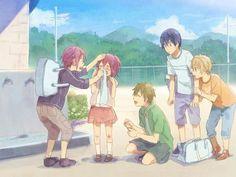 Free! - Iwatobi Swim Club, rin matsuoka, rin, matsuoka, gou matsuoka, gou, makoto tachibana, makoto, tachibana, haruka nanase, haru nanase, haru, nanase, haruka, nagisa hazuki, nagisa, hazuki, free!, iwatobi