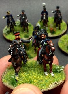 Napoleonics in Miniature (Paul Provan) - brigade command - ADC's cocked hat with oilskin cover applied