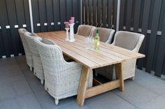 4-Seasons Brighton Provance / 3 m. tuintafel - Gratis Thuisbezorgd! Super strak tuinset van het bekende kwaliteitsmerk 4-Seasons Outdoor