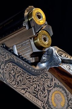 Meant for men who like their lethal weapon look beautiful too… Shooting Guns, Shooting Sports, Sporting Clays, Lethal Weapon, Gun Art, Fire Powers, Hunting Rifles, Firearms, Shotguns