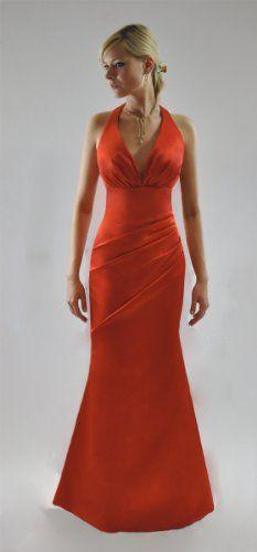 Sexy Red Halter-Neck Evening Dress (UK12) - http://www.cheaptohome.co.uk/sexy-red-halter-neck-evening-dress-uk12/