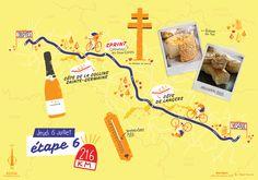 La sixième étape du Tour de France par deux degrés et Mélanie Béguier Bordeaux, Movie Posters, Map Of France, Cards, Bordeaux Wine, Film Poster, Billboard, Film Posters