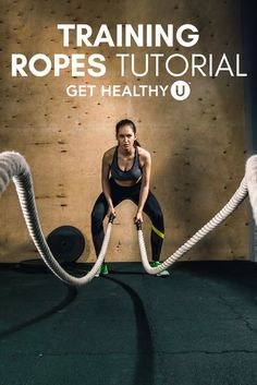 """Training ropes (sometimes called """"battle ropes"""") that are popular with pro athletes and fitness newbies alike. Why are they so popular?Slamming, waving, and whipping around these ropesbuilds strength—plus it works just abouteverymuscle in your body and gets your heart rate up, too. It's basically the full package!"""