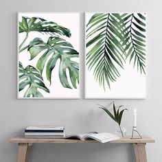 Scandinavian Style Canvas Poster and Print Green Plant Leaf Wall Art Painting Nordic Decoration Pictures Modern Home Decor _ - AliExpress Mobile Version - Plant Painting, Plant Art, Leaf Wall Art, Leaf Art, Decorating With Pictures, Decoration Pictures, Home Decor Paintings, Art Decor, Leaf Paintings