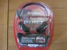 Labtec Stereo 442 Schwarz Nackenbügel Headset - Neu
