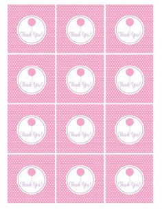 FREE Pink and Purple (Girl) Birthday Printables from Green Apple Paperie | Catch My Party