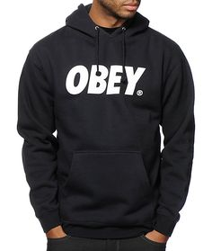 Keep your style fresh with a white Obey text graphic at the chest with a soft fleece lining for improved comfort.
