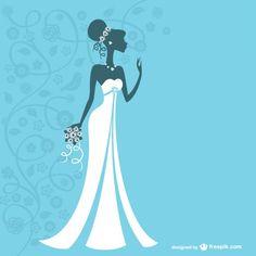 Vector de vestido de novia Vector Gratis