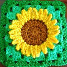 Cute Crochet Sunflower Pattern | AllFreeCrochetAfghanPatterns.com