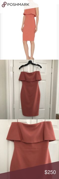NWOT Elizabeth and James Dust Rose Miranda Dress NWOT Elizabeth and James Dust Rose Miranda Dress. Size 0. Never worn and brand new! Beautiful strapless dress with large top ruffle. Simply chic. Elizabeth and James Dresses Strapless