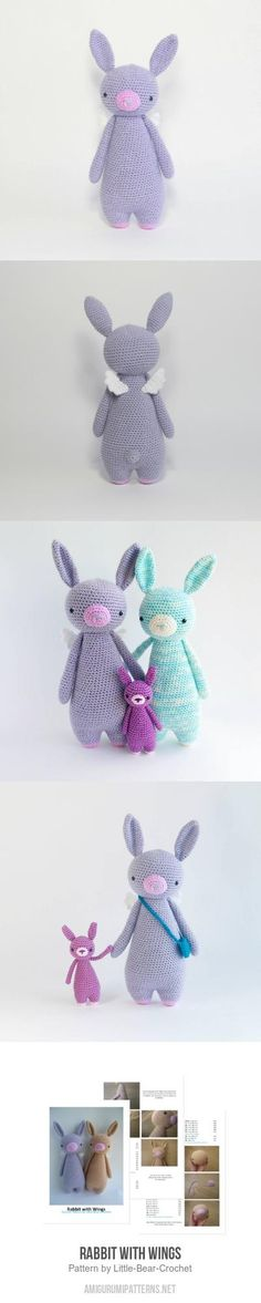 Rabbit With Wings Amigurumi Pattern