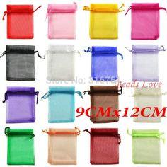 #BestPrice #Fashion 100pcs Mix Jewelry Packing Drawable Organza Bags Wedding 9cmx12cm AA(W03208)